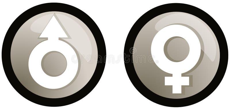 Symbole du genre mâle et femelle illustration libre de droits