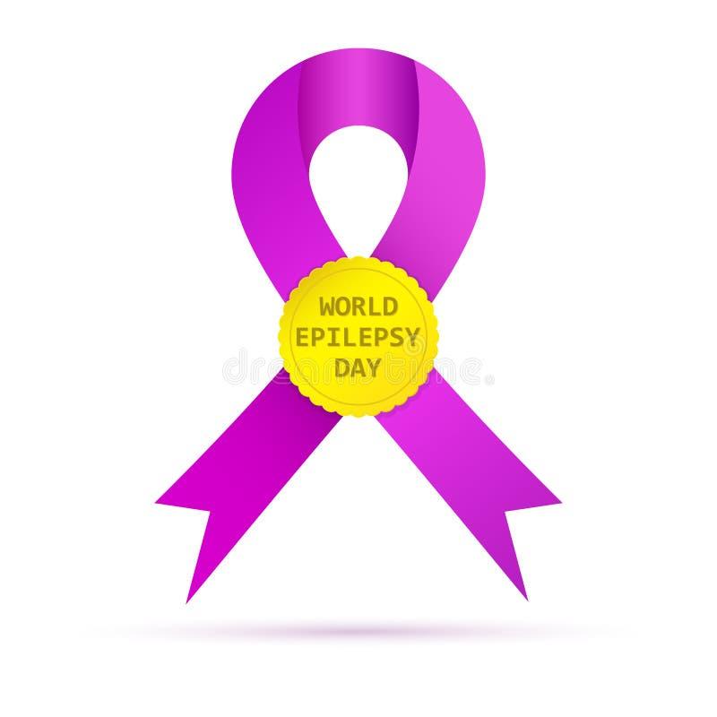 Symbole du jour d'épilepsie du monde Illustration de vecteur illustration libre de droits