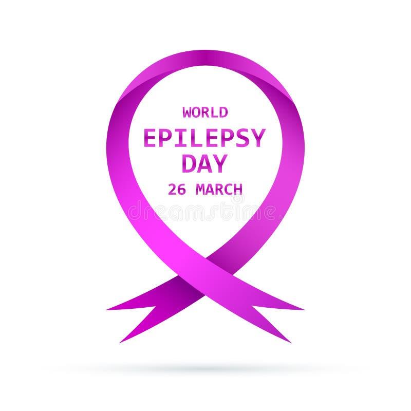 Symbole du jour d'épilepsie du monde Illustration de vecteur illustration de vecteur