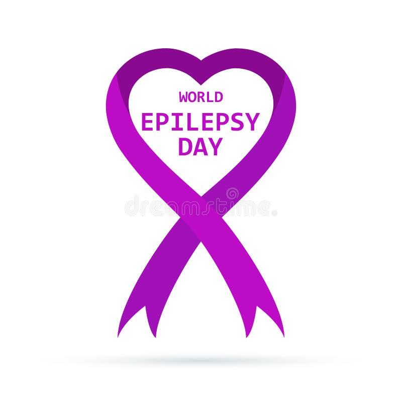 Symbole du jour d'épilepsie du monde Illustration de vecteur illustration stock