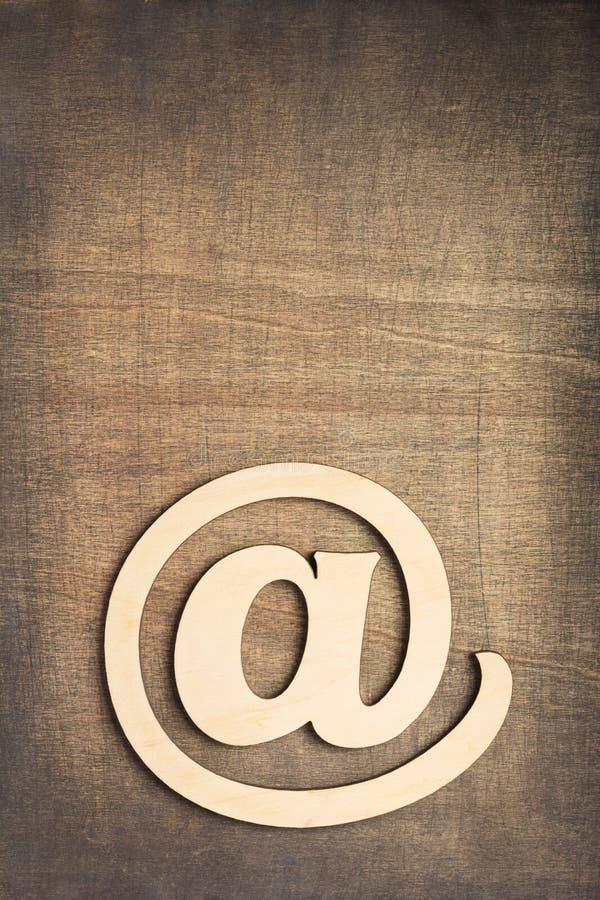Symbole en bois d'email images libres de droits