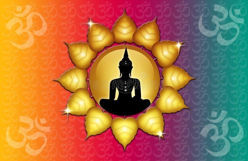 Symbole et Bouddha de l'OM illustration libre de droits