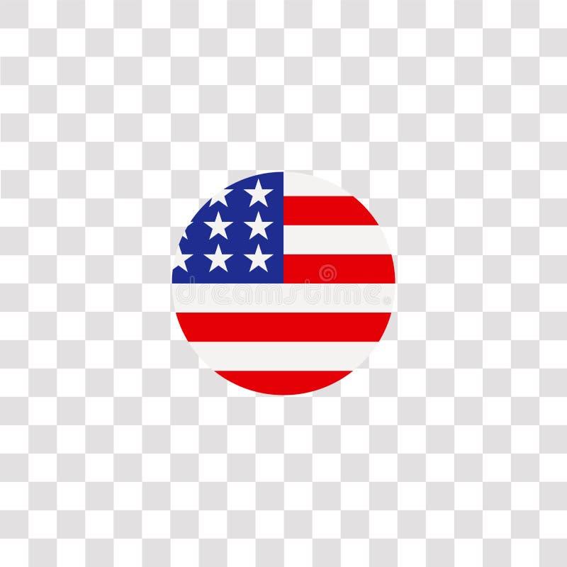 symbole et symbole de l' icône des états-unis d' amérique icône américaine de couleur pour la conception de sites Web et le dével illustration libre de droits