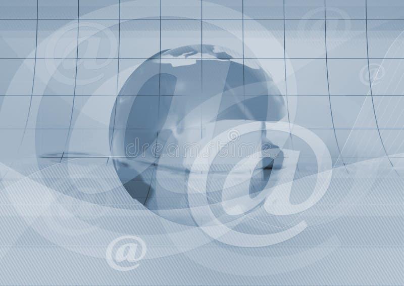 Symbole et terre d'email illustration de vecteur