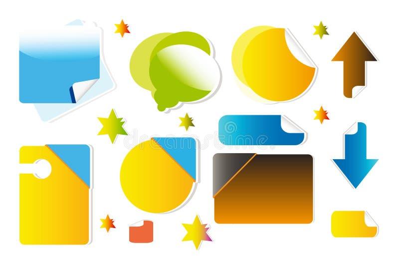 Symbole für Web site lizenzfreie abbildung