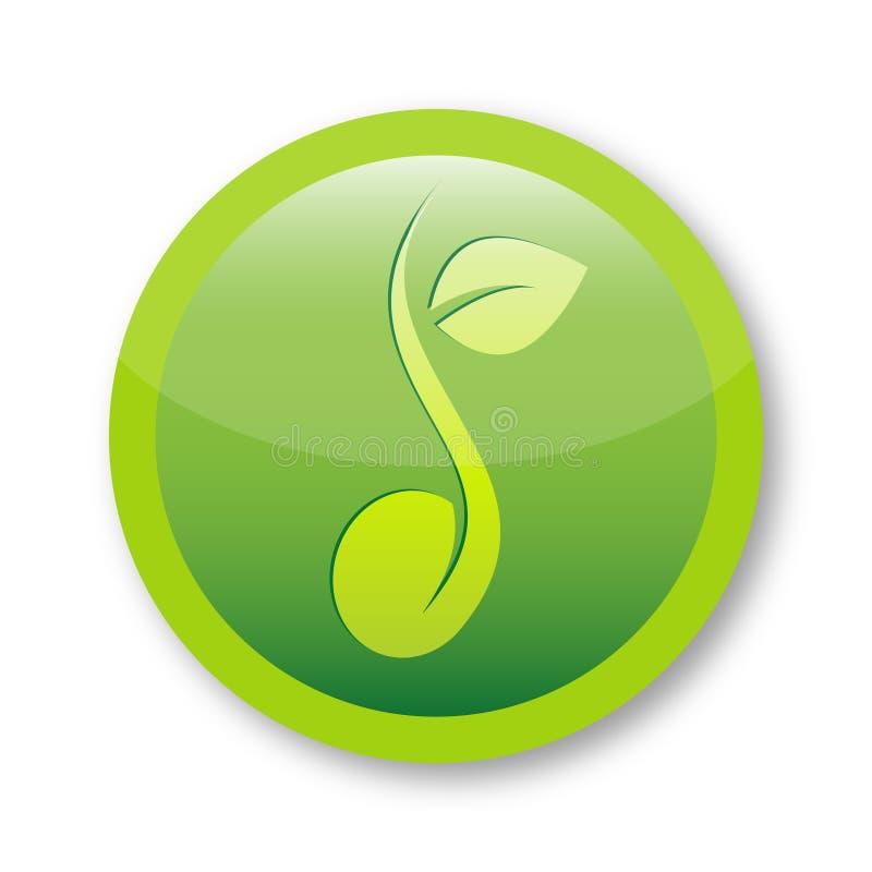 Symbole frais de logo de graine illustration de vecteur