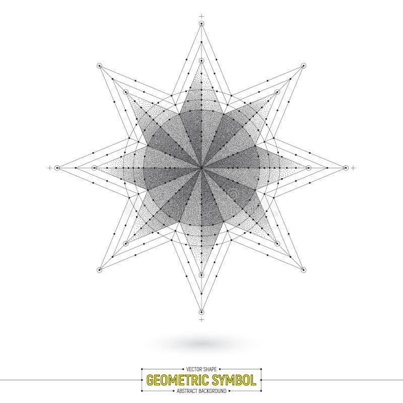 Symbole géométrique Art Illustration d'étoile de vecteur illustration de vecteur
