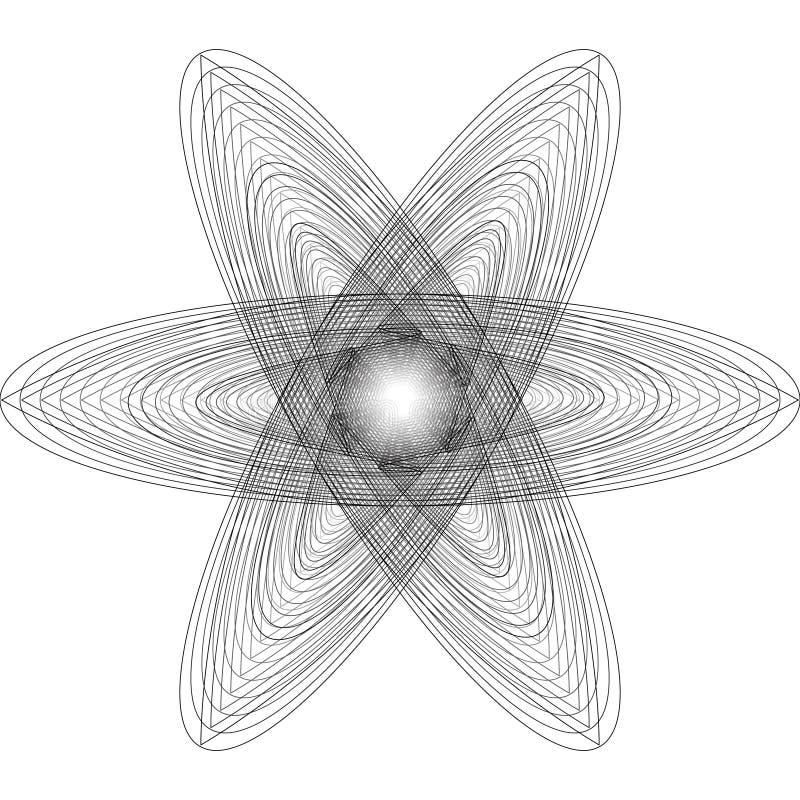 Symbole géométrique de pentagone étoilé d'astrologie d'étoile d'icône de modèle illustration libre de droits