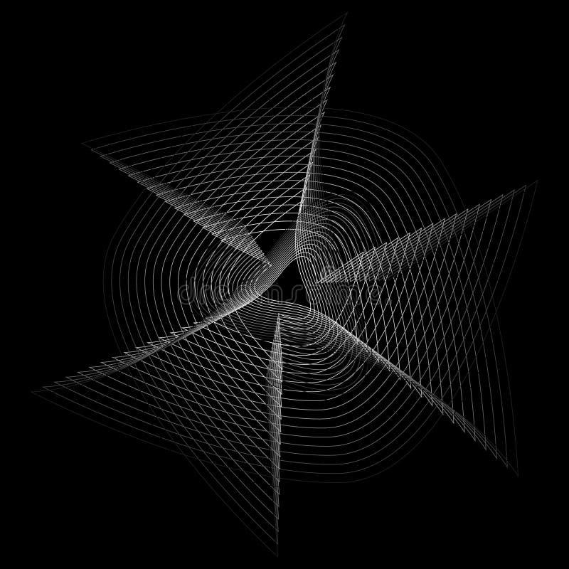 Symbole géométrique de pentagone étoilé d'astrologie d'étoile d'icône de modèle illustration stock