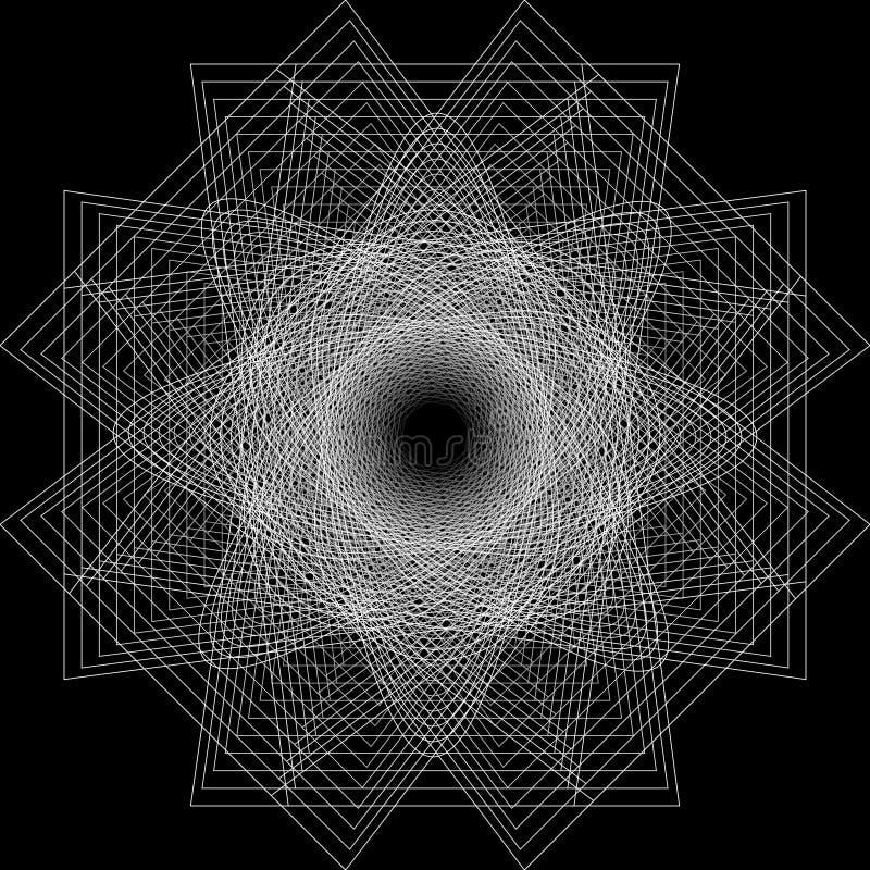 Symbole géométrique de pentagone étoilé d'astrologie d'étoile d'icône de modèle illustration de vecteur