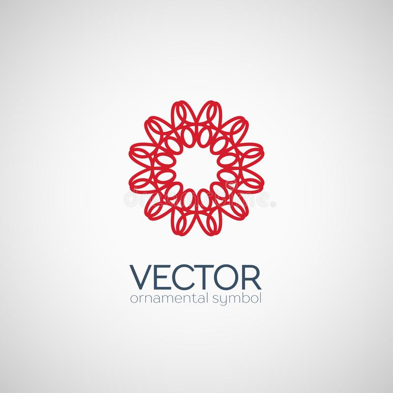 Symbole géométrique de vecteur illustration libre de droits