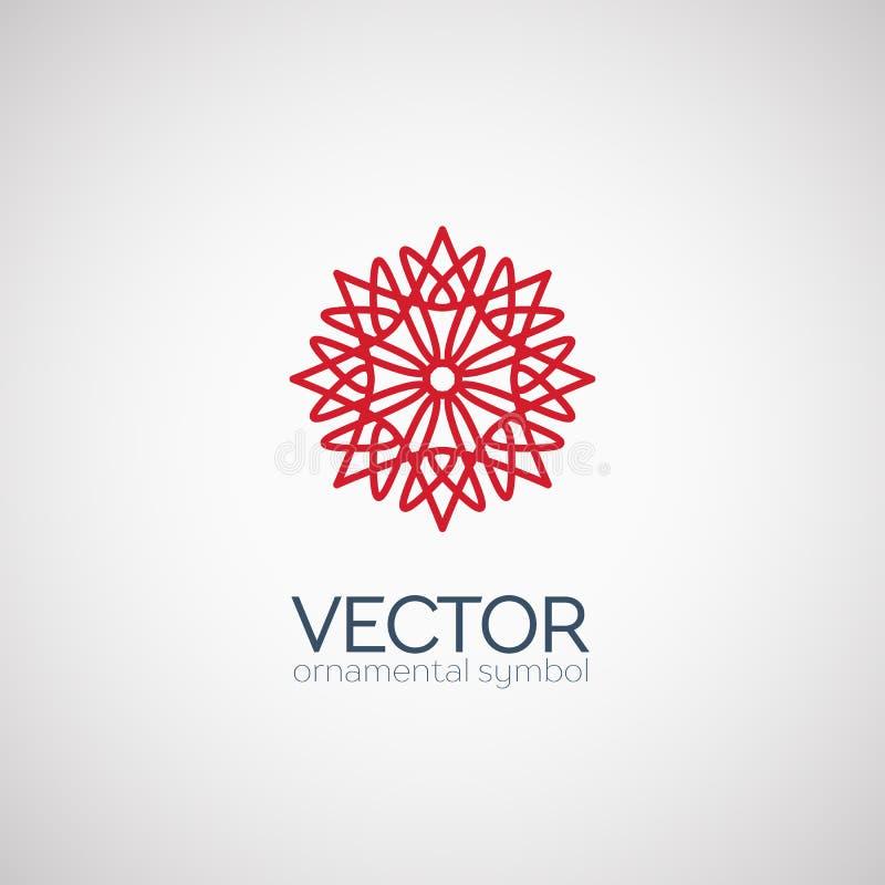 Symbole géométrique de vecteur illustration stock