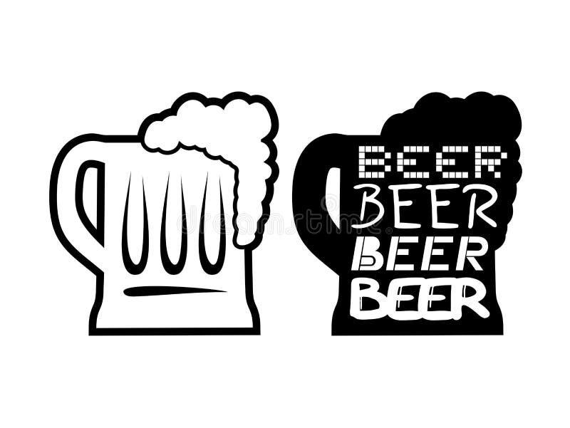 Symbole gentil de bière illustration libre de droits