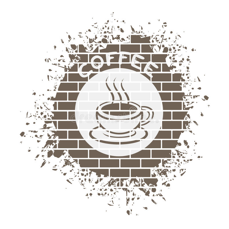 Symbole gentil de coffe illustration stock