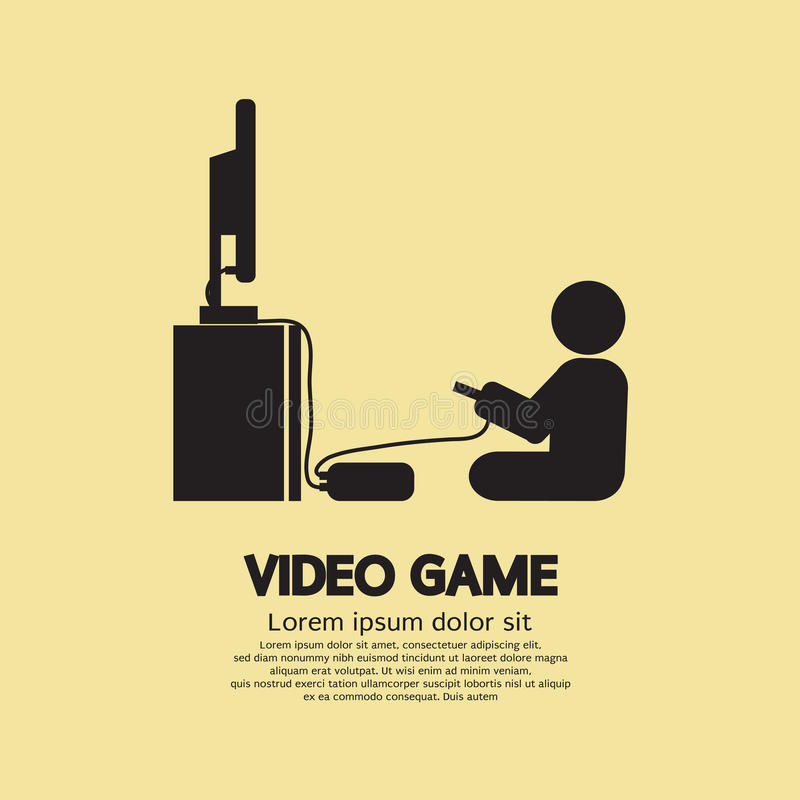 Symbole graphique de joueur de jeux vidéo illustration libre de droits