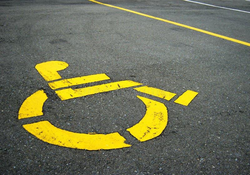 Symbole handicapé image libre de droits