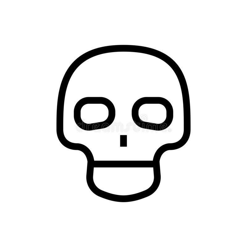 Symbole humain squelettique d'anatomie de crâne d'icône de tête mignonne de conception illustration médicale de soins de santé de illustration libre de droits