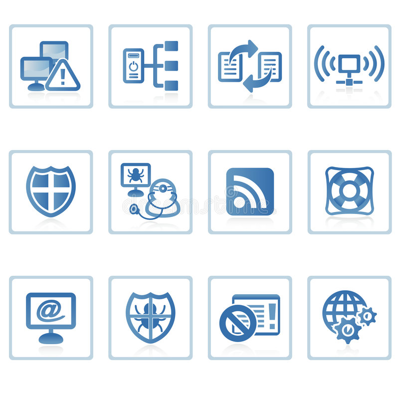 symbole ii zabezpieczenia internetu royalty ilustracja