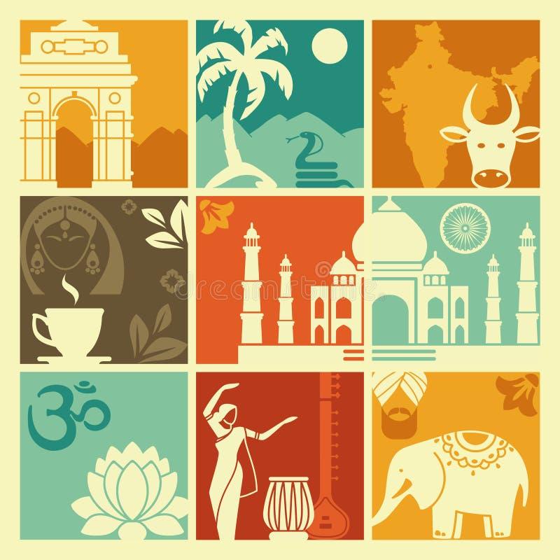 Symbole India ilustracji