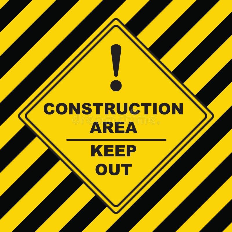Symbole industriel - zone de construction illustration stock