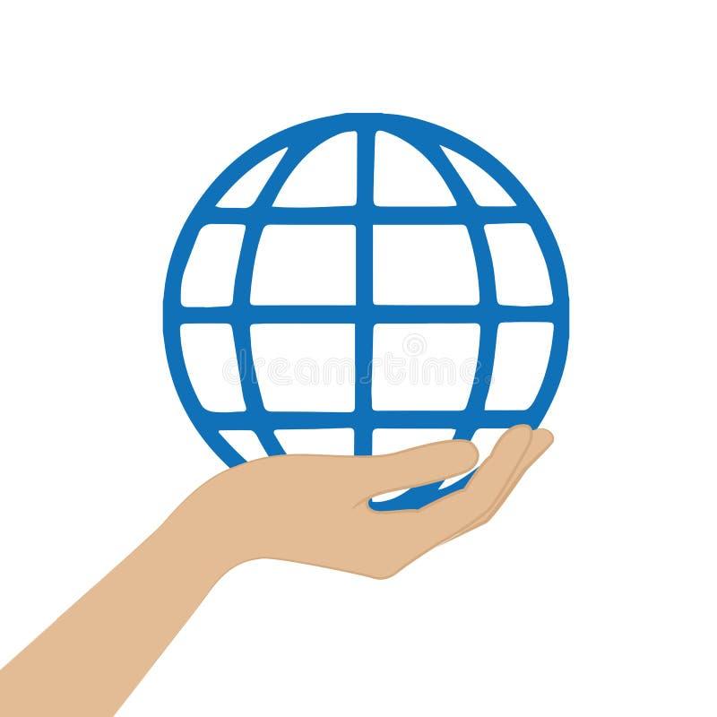 Symbole international global de prise femelle de main illustration de vecteur