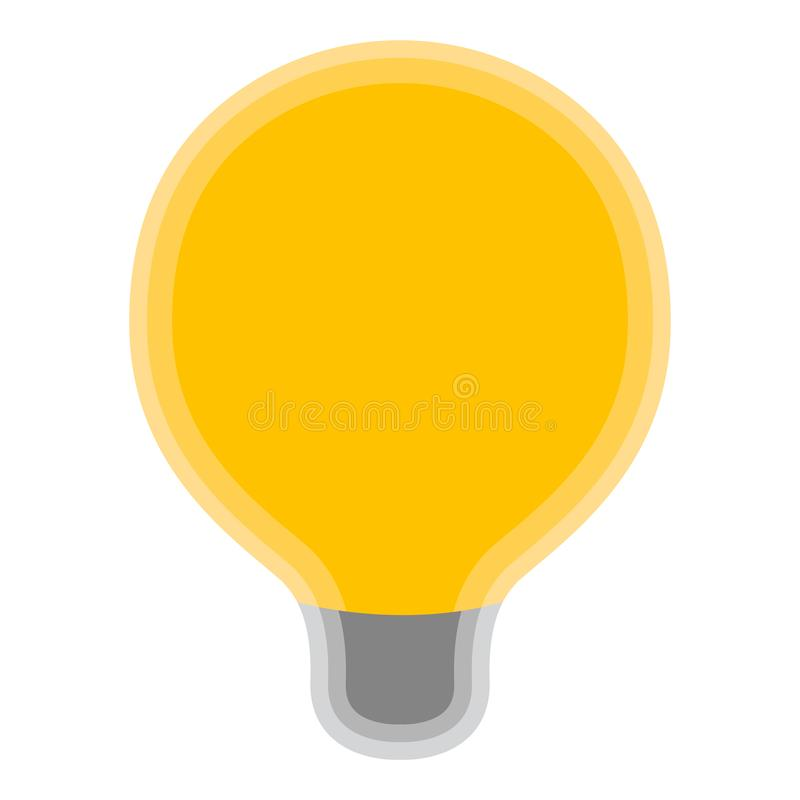 Symbole jaune d'isolement d'ampoule illustration libre de droits