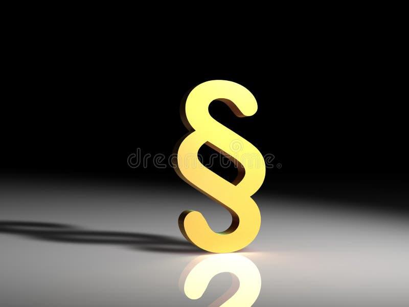Symbole jaune de paragraphe illustration libre de droits