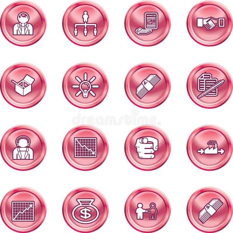 symbole jednostek gospodarczych postawił sieci ilustracji