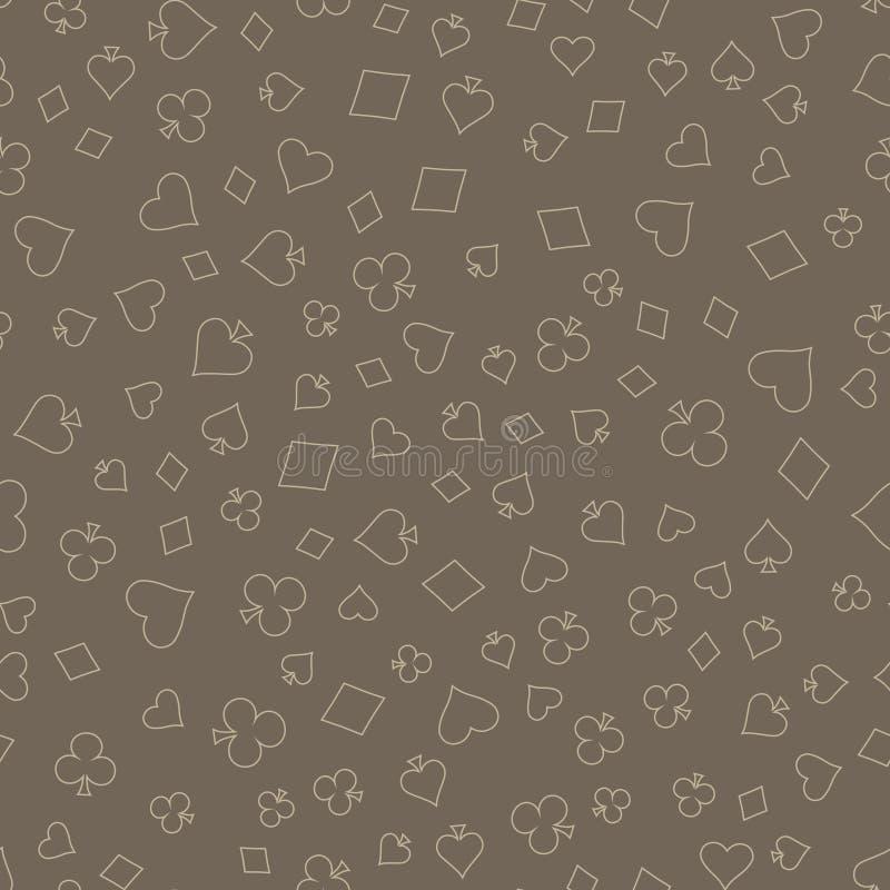 Symbole Klagen-Karten-des nahtlosen Muster-Hintergrundes lizenzfreie abbildung
