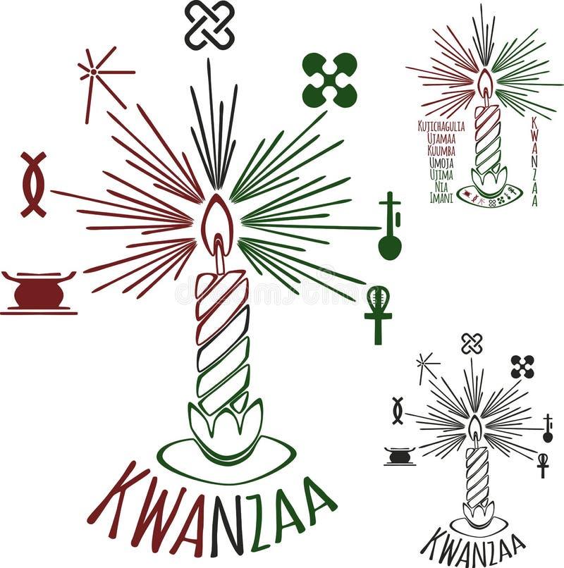 Symbole Kwanzaa royalty ilustracja