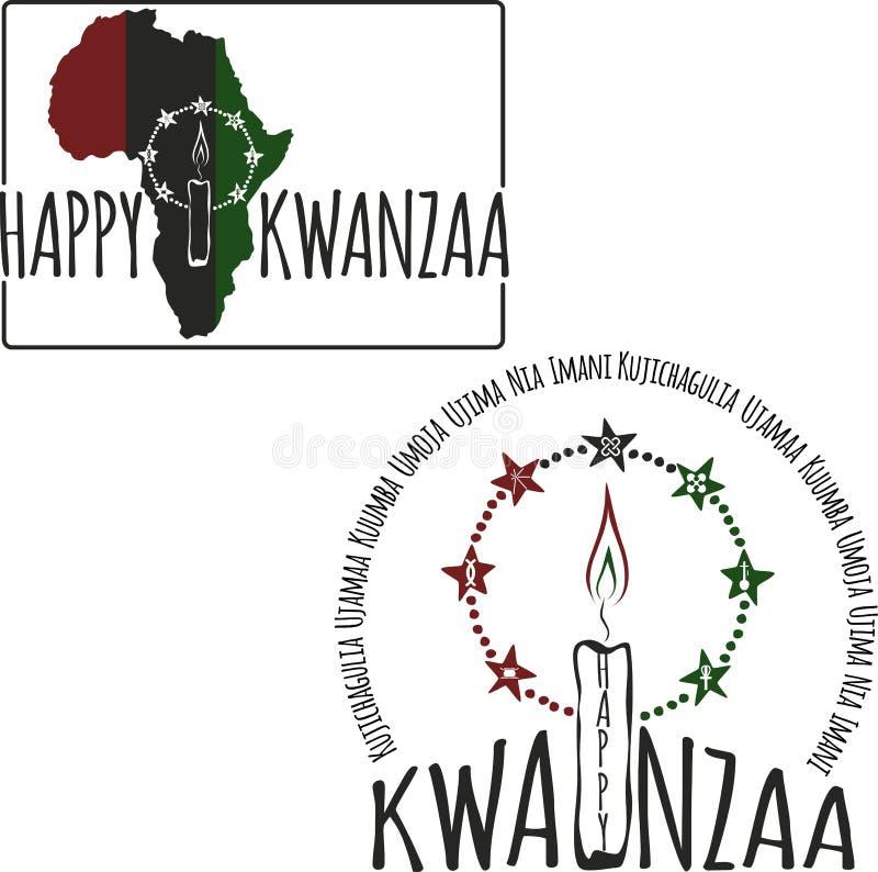 Symbole Kwanzaa ilustracji