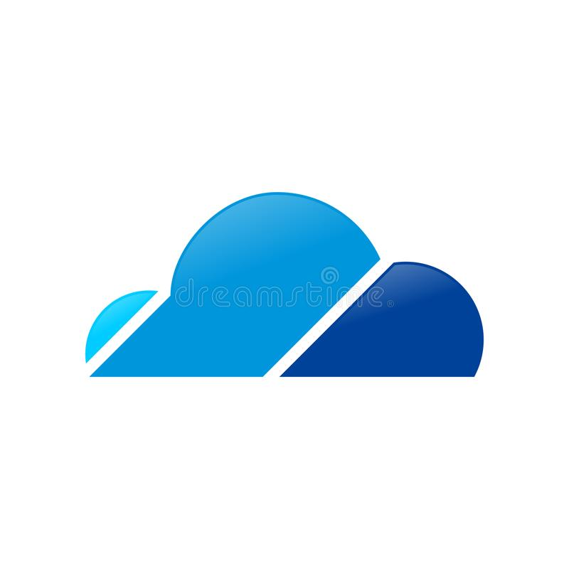 Symbole Logo Design de Patform de nuage de Digital illustration stock