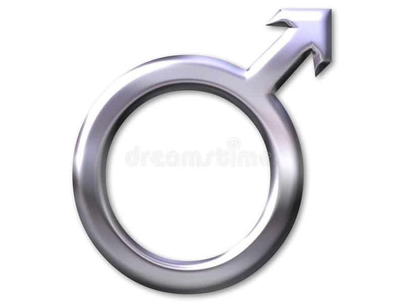 Symbole mâle illustration stock