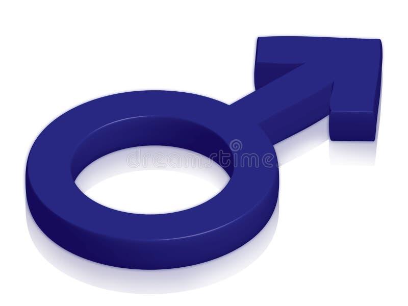 Symbole mâle illustration libre de droits