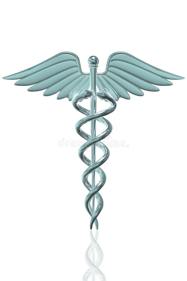 Symbole médical de caducée illustration stock