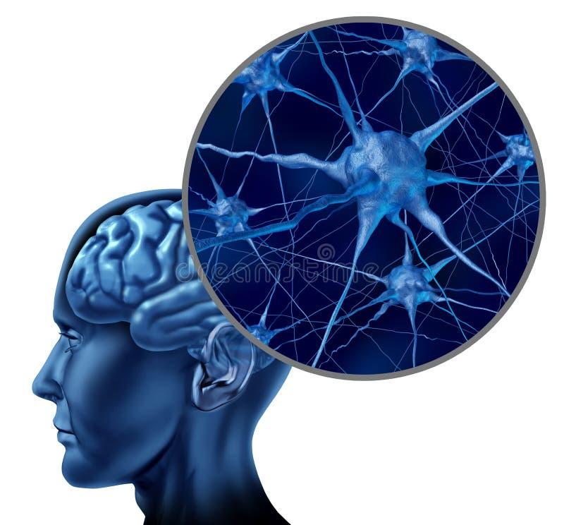 Symbole médical de cerveau humain illustration de vecteur