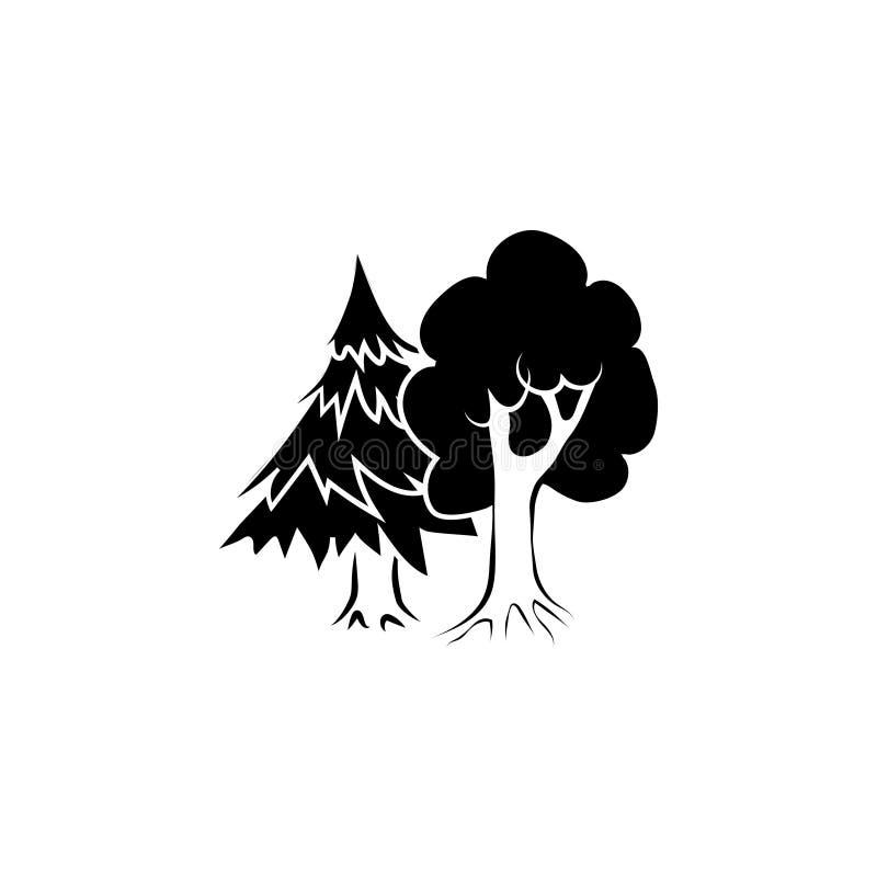 Symbole mélangé d'icône de forêt illustration de vecteur