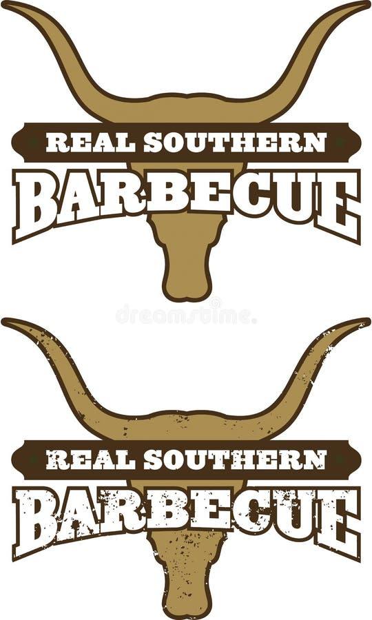 Symbole méridional réel de barbecue illustration de vecteur