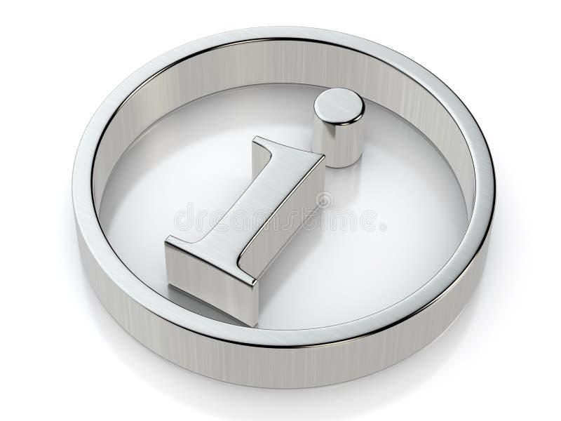 Symbole métallique d'infos illustration de vecteur