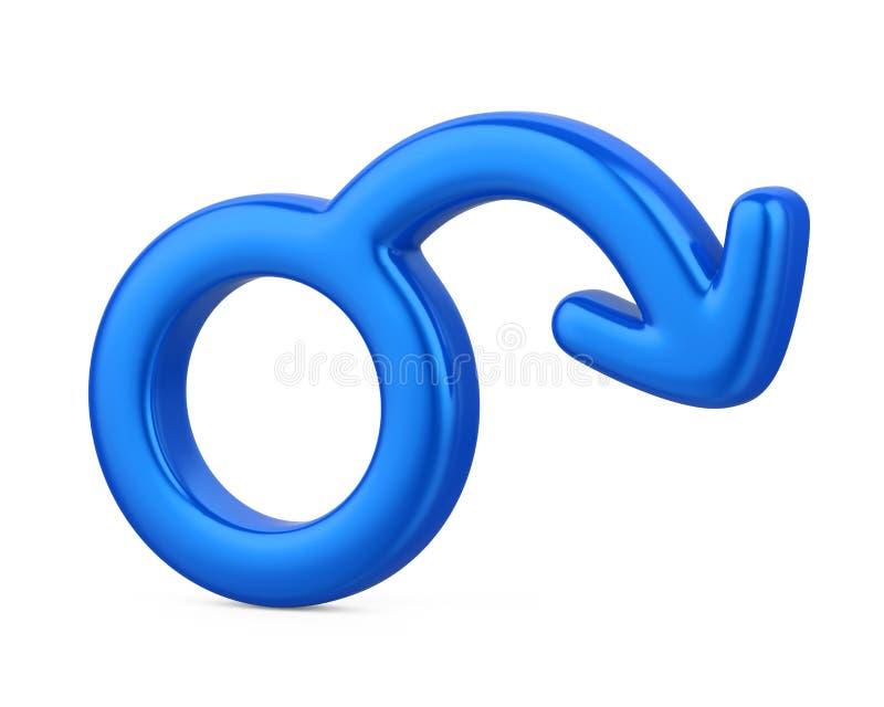 Symbole masculin de dysfonctionnement érectile d'isolement illustration de vecteur