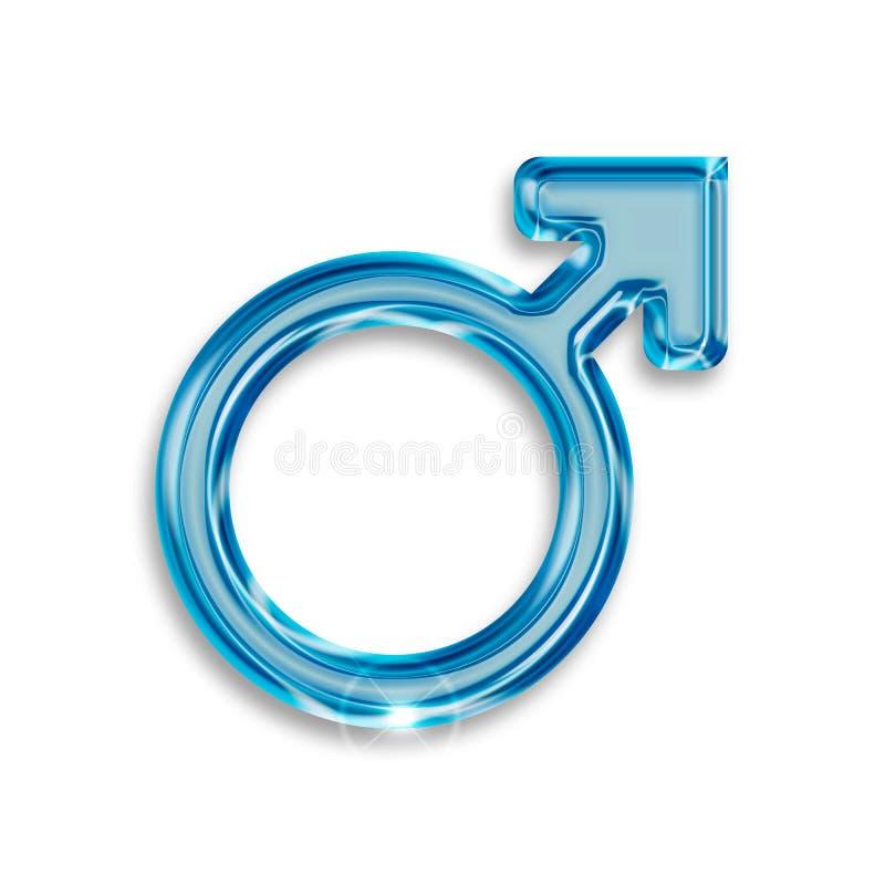 Symbole masculin de genre illustration libre de droits