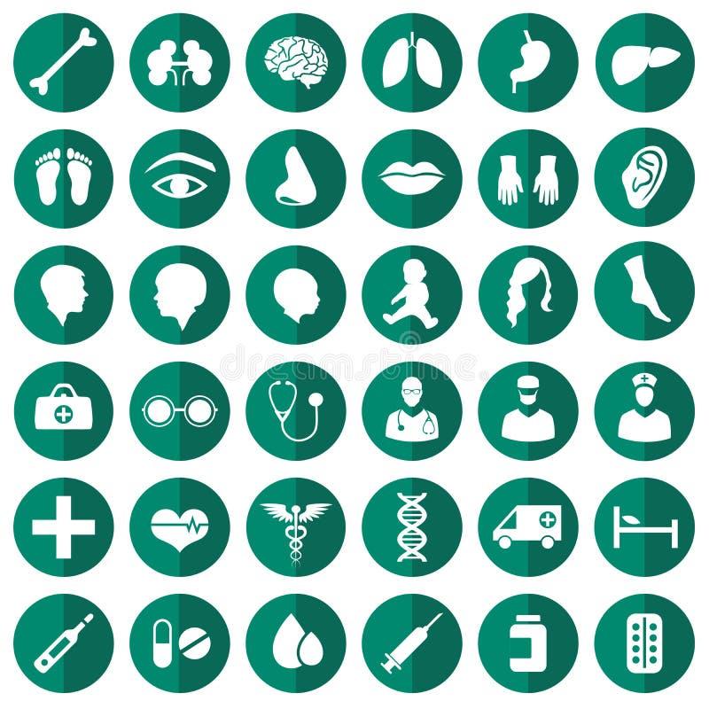 symbole medycznych royalty ilustracja