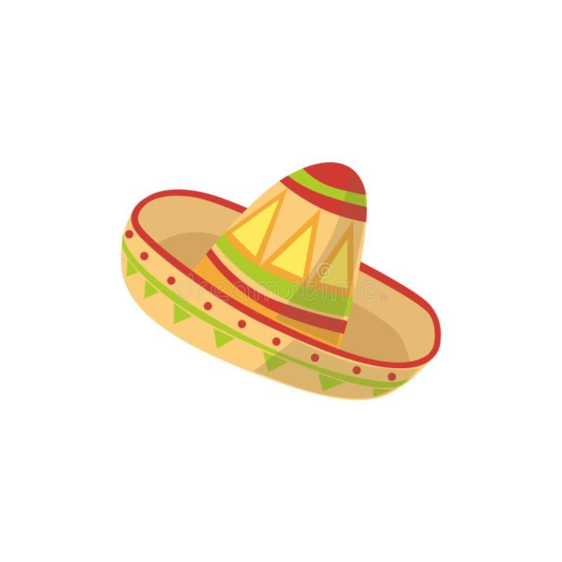 Symbole mexicain de culture de chapeau de mariachi illustration libre de droits