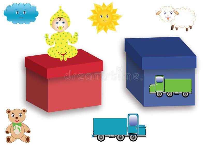 Symbole mit Spielwaren stock abbildung