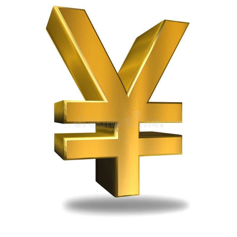 Symbole monétaire de Yens illustration libre de droits