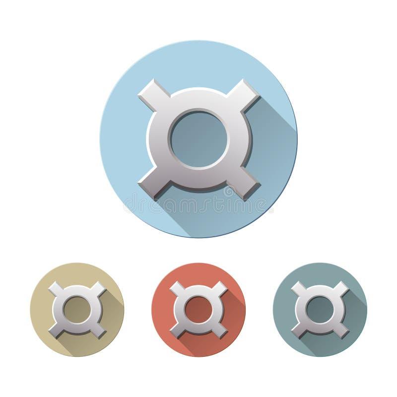 Symbole monétaire générique d'isolement sur le blanc illustration de vecteur
