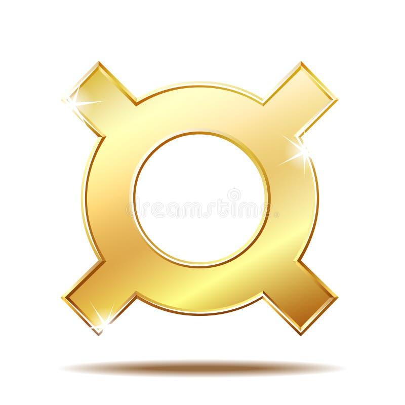 Symbole monétaire générique froid d'isolement sur le blanc illustration libre de droits