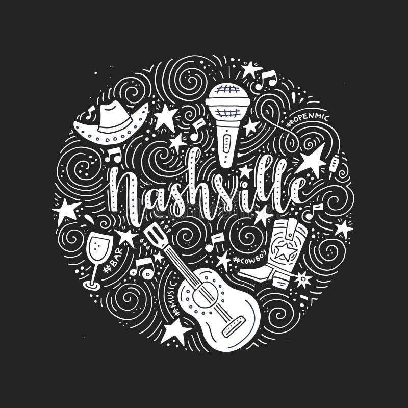 Symbole Nashville ilustracja wektor