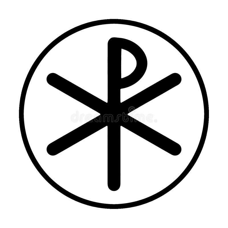 Symbole noir de Chi-rho images libres de droits