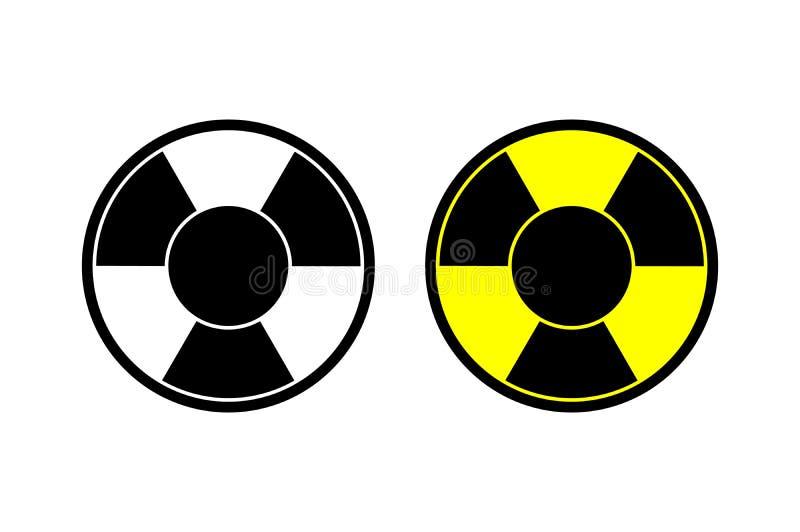 Symbole nucléaire de danger d'alerte de signe de risque d'irradiation d'icône de vecteur La page de site Web et l'APP mobile conç illustration libre de droits